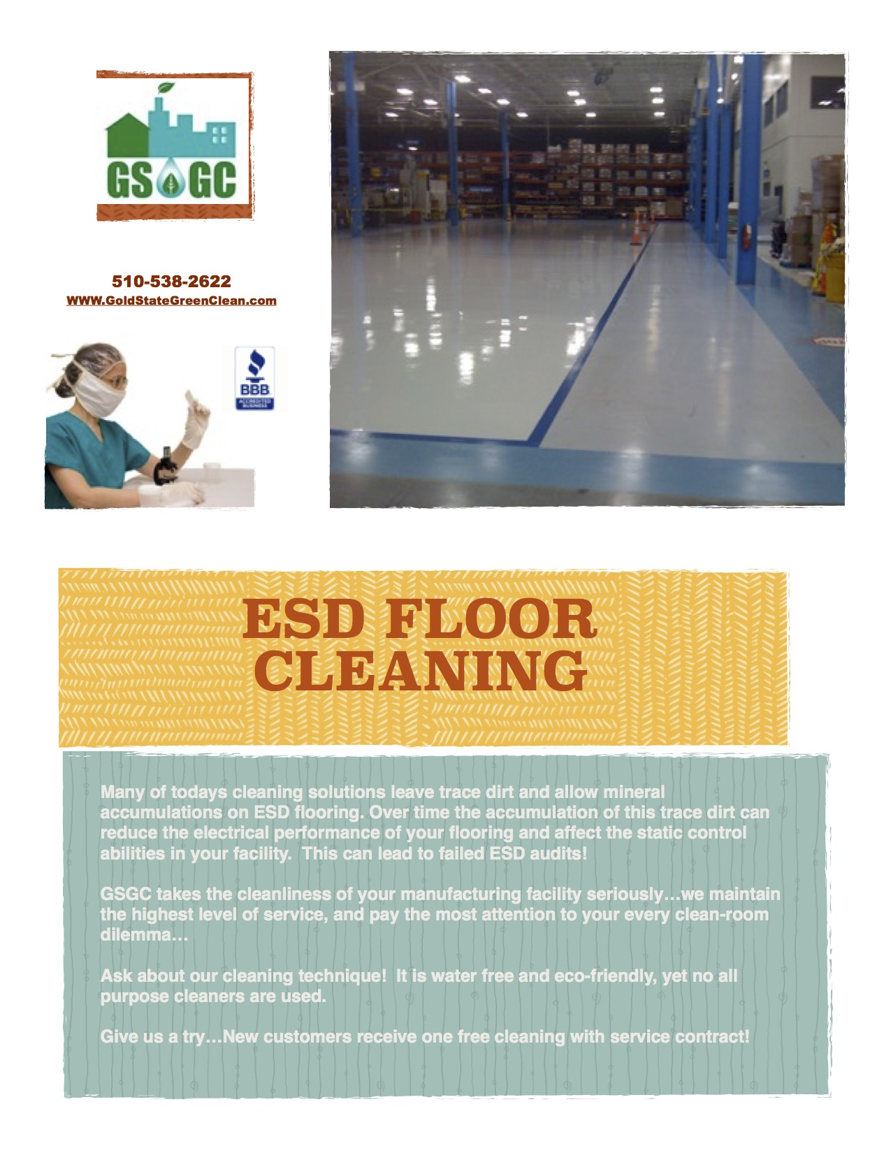 GSGC ESD floor flyer